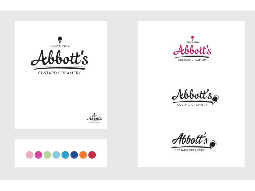 Abbott's Custard rebranding concepts