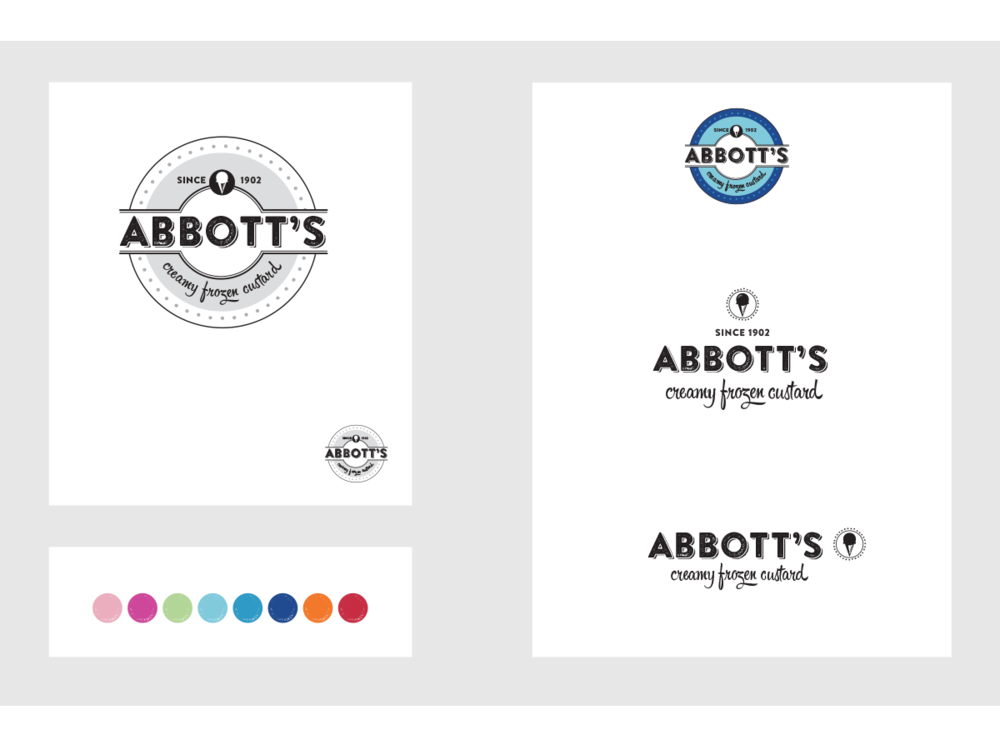 Abbott's rebranding concept - selected concept, but project never executed