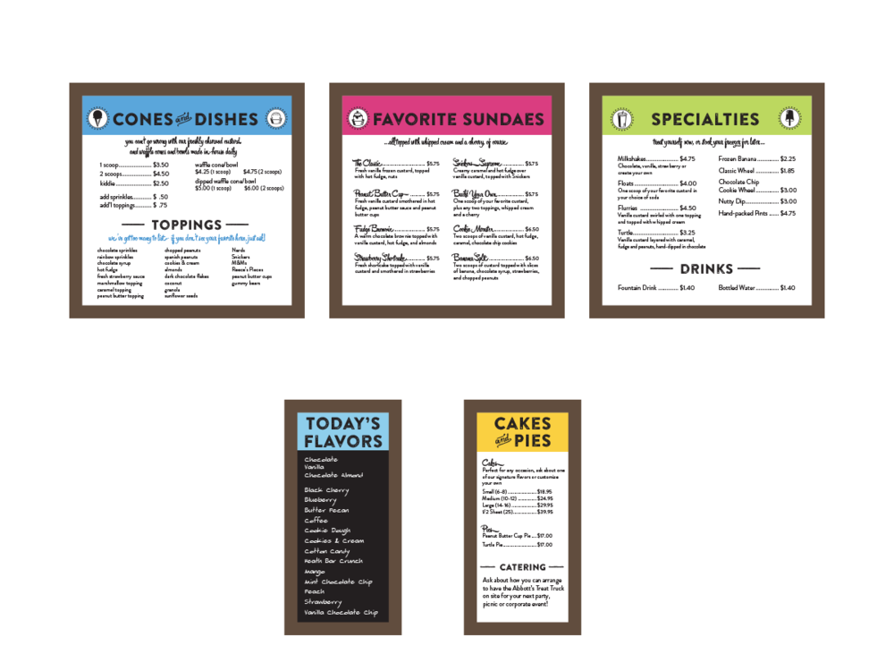 Abbott's menu board concepts