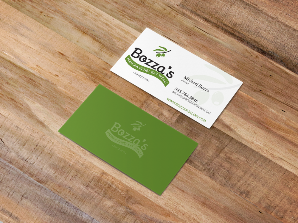 Bozza's business cards
