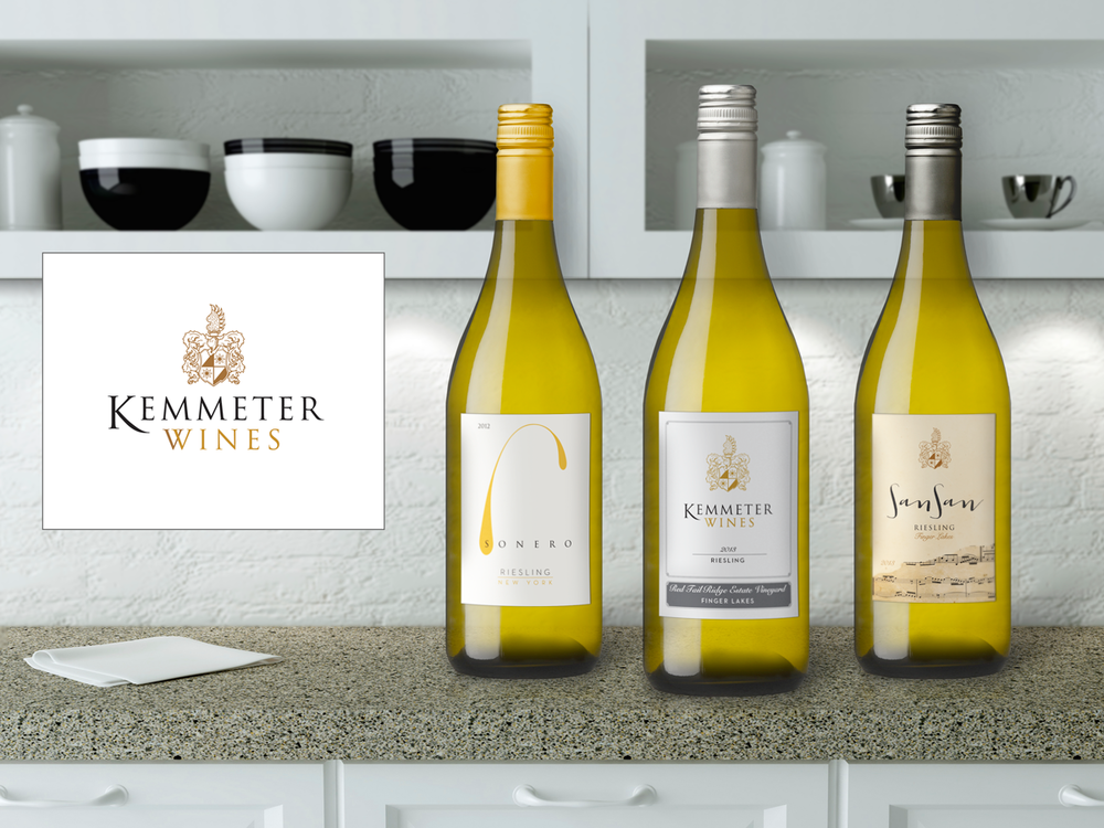 Kemmeter Wines package design