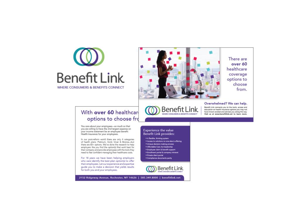 Benefit Link postcard