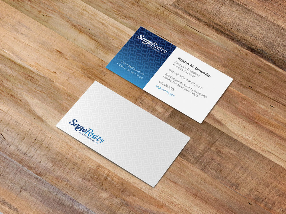 Sage Rutty Logo Refresh and Business Card Design