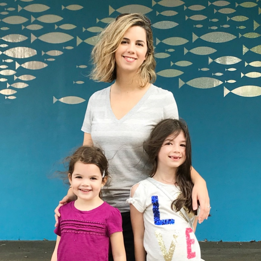 My girls and I at the Chattanooga Aquarium in late 2017