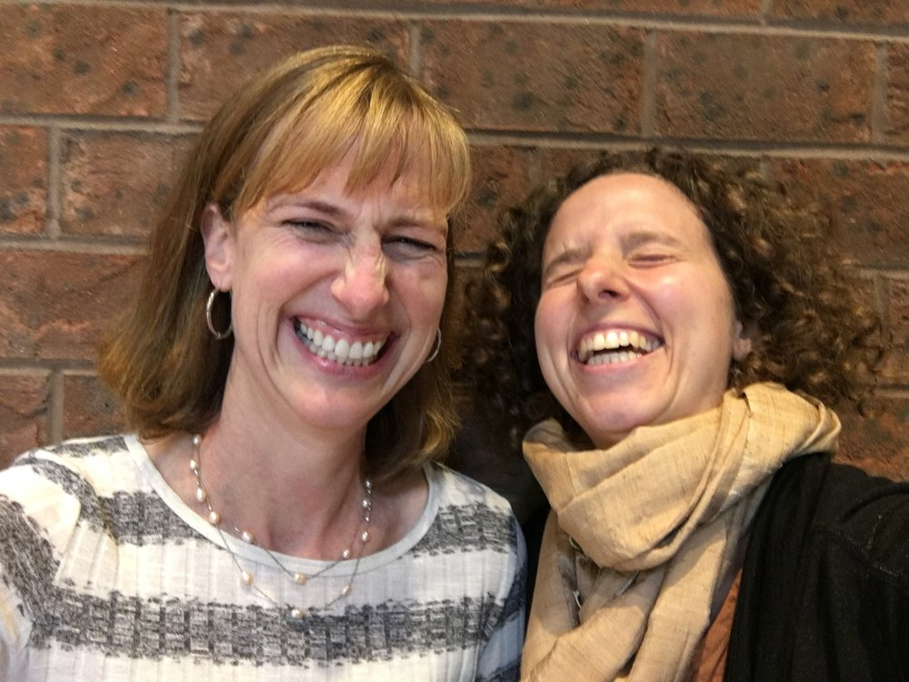 - Carol O'Donoghue (left) and Molly Weingrod (right) trained simultaneously with Nancy Bardacke (www.mindfulbirthing.org), creator of MBCP, in 2015. Mindful Birth and Parenting Philadelphia was born in January, 2016.  They happily share their beloved neighborhood of Mt. Airy, and are thrilled to be bringing MBCP to Philadelphia together.