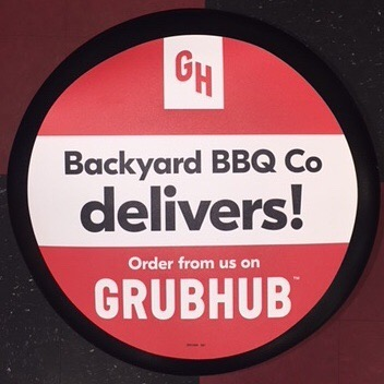 Don't forget about your Super Bowl Barbecue needs! Order food you love, online or with the app! #superbowl #barbecue #bbq #grubhub #delivery #BackyardBBQ