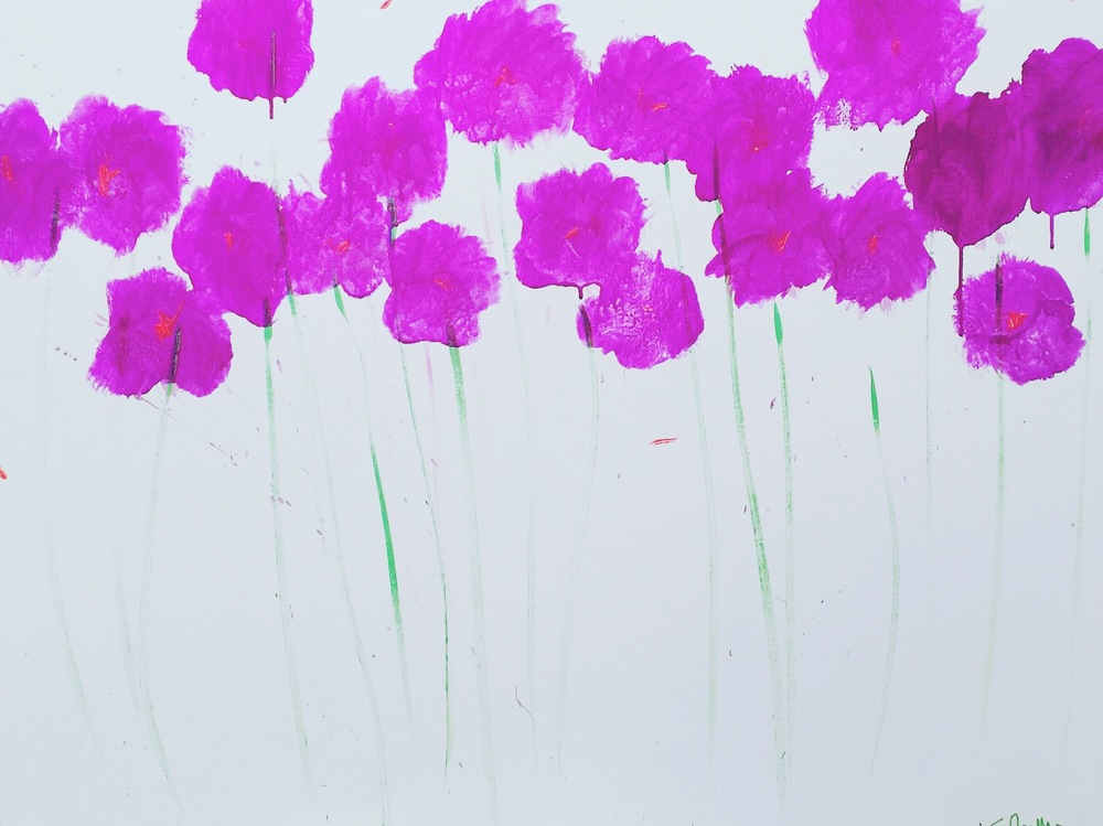 Pretty Poppies 48 x 36