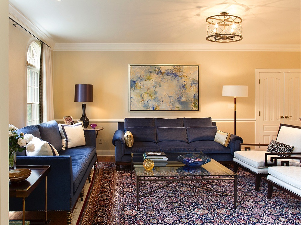 Westchester, NY, Mara Solow Interiors - Artwork by Anne Raymond