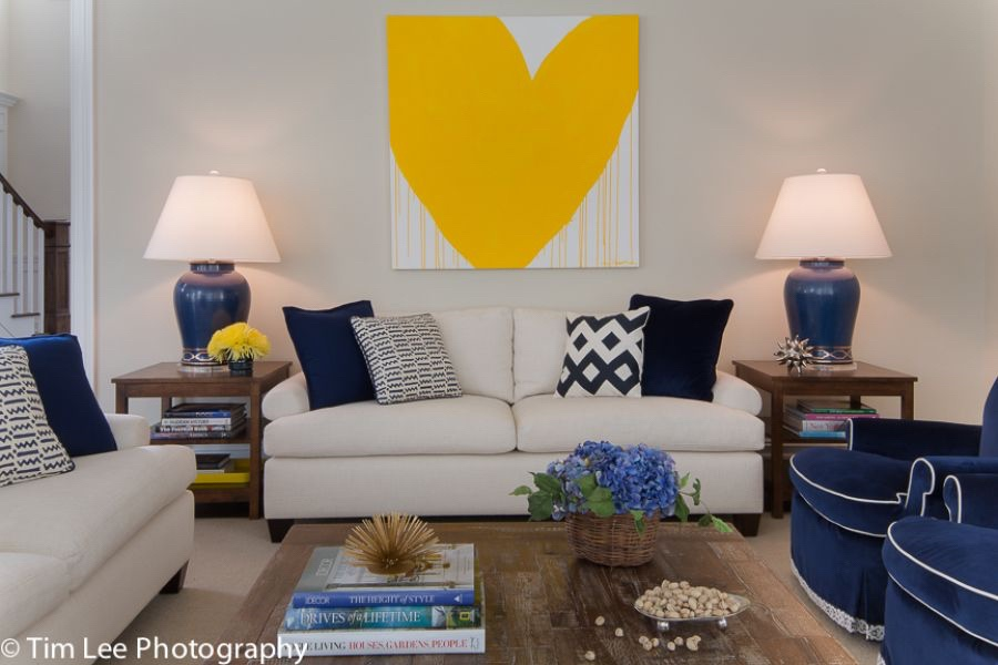 Armonk, NY, Susan Carlson Interiors, Tim Lee Photography - Artwork by Kerri Rosenthal