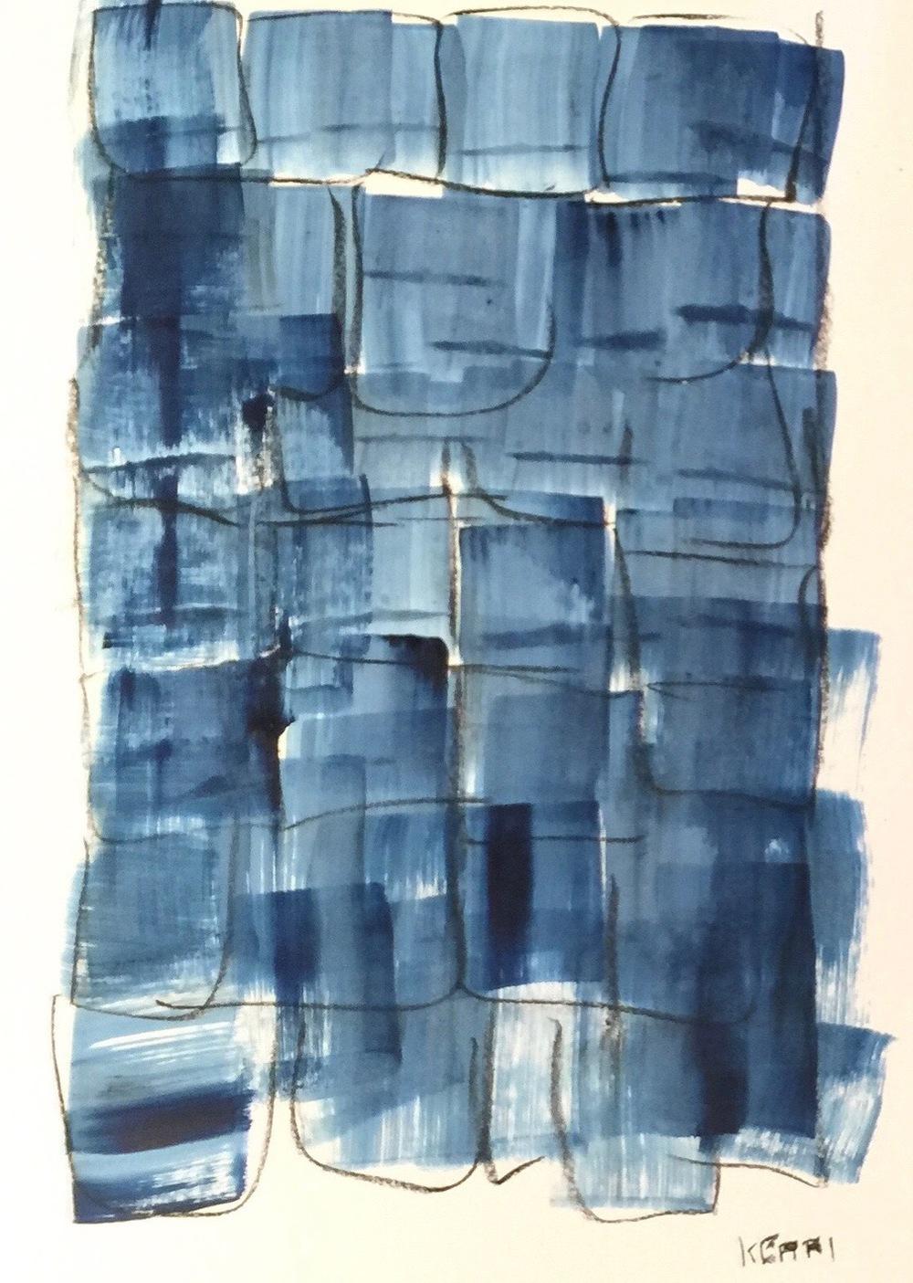 Indigo No. 1 on paper 25 x 19