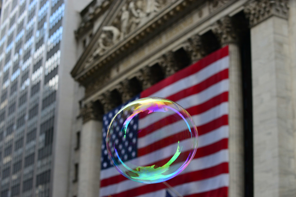 Bubble, the American flag & the NYSE