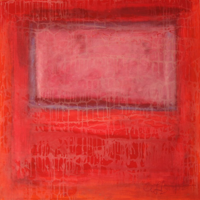 AB.Rothko Pink Window.oil and encaustic_30x30