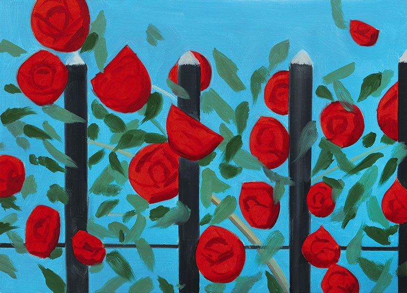 Red Roses with Blue, Alex katz, 2011
