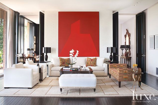 large scale red painting