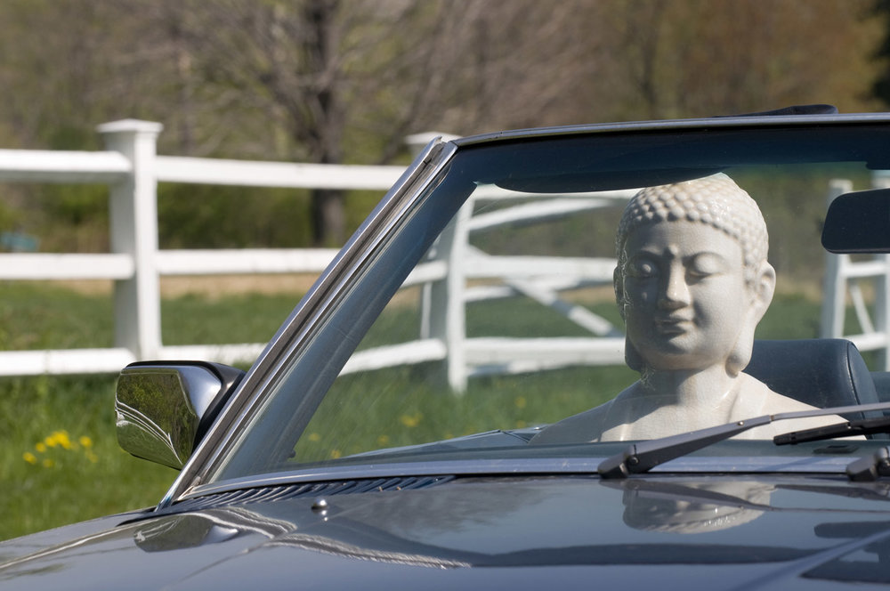 Buddha and Mercedes, by Kit Kittle Photography
