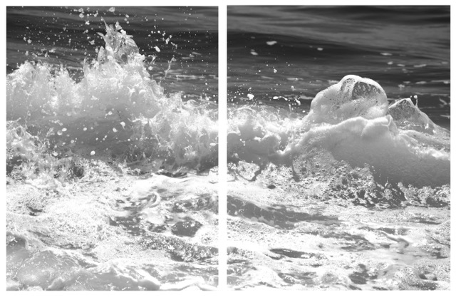 Slick It Back Diptych Diptych, black & white
