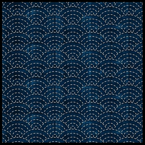 "Sashiko ""waves"""