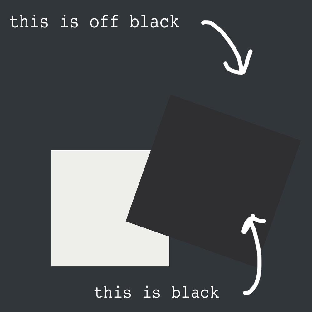 Inkwell ,  Tricorn Black &  Extra White