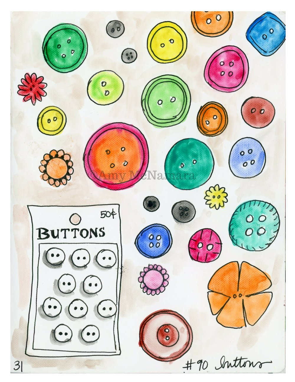 no.90 Buttons