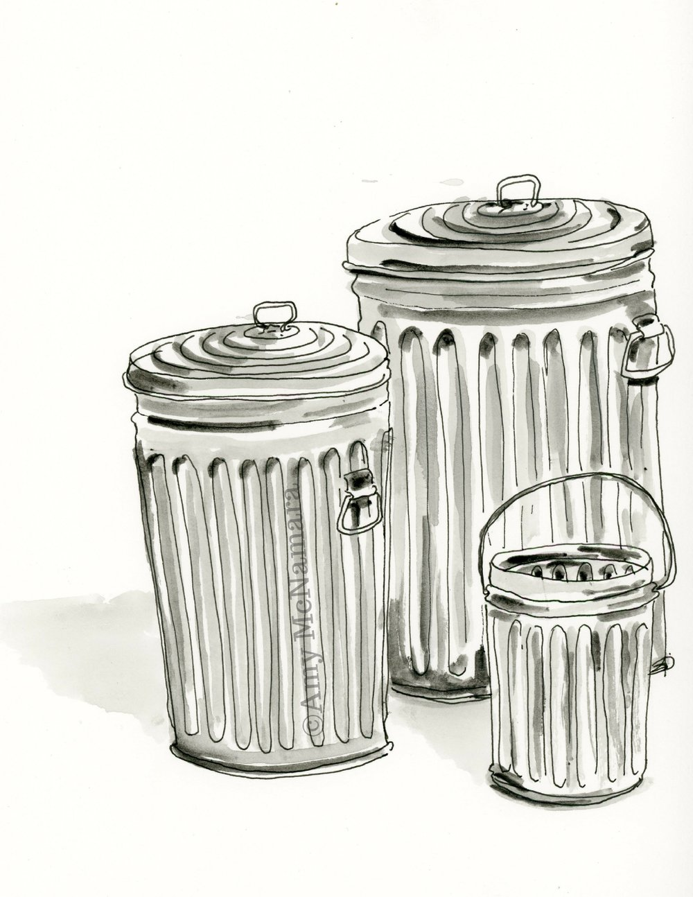 no. 182 Garbage Cans