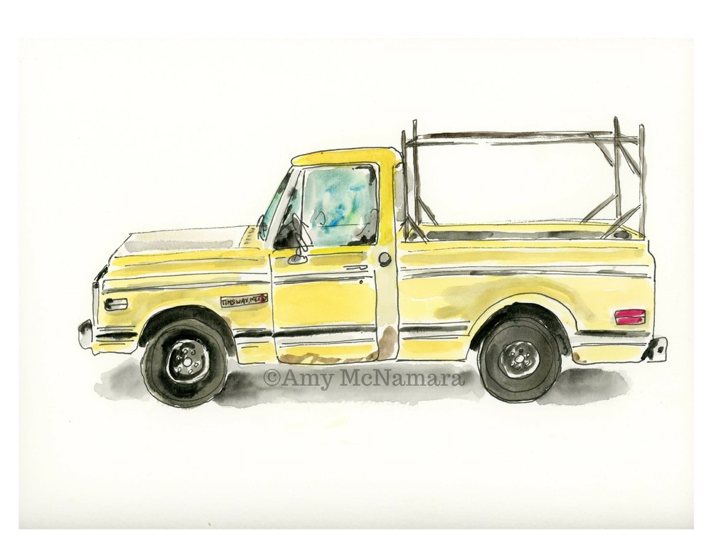 no. 183 Yellow Truck