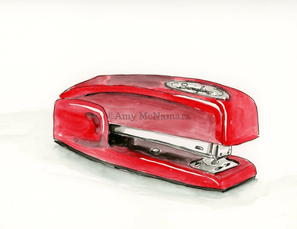 no. 201 Red Stapler