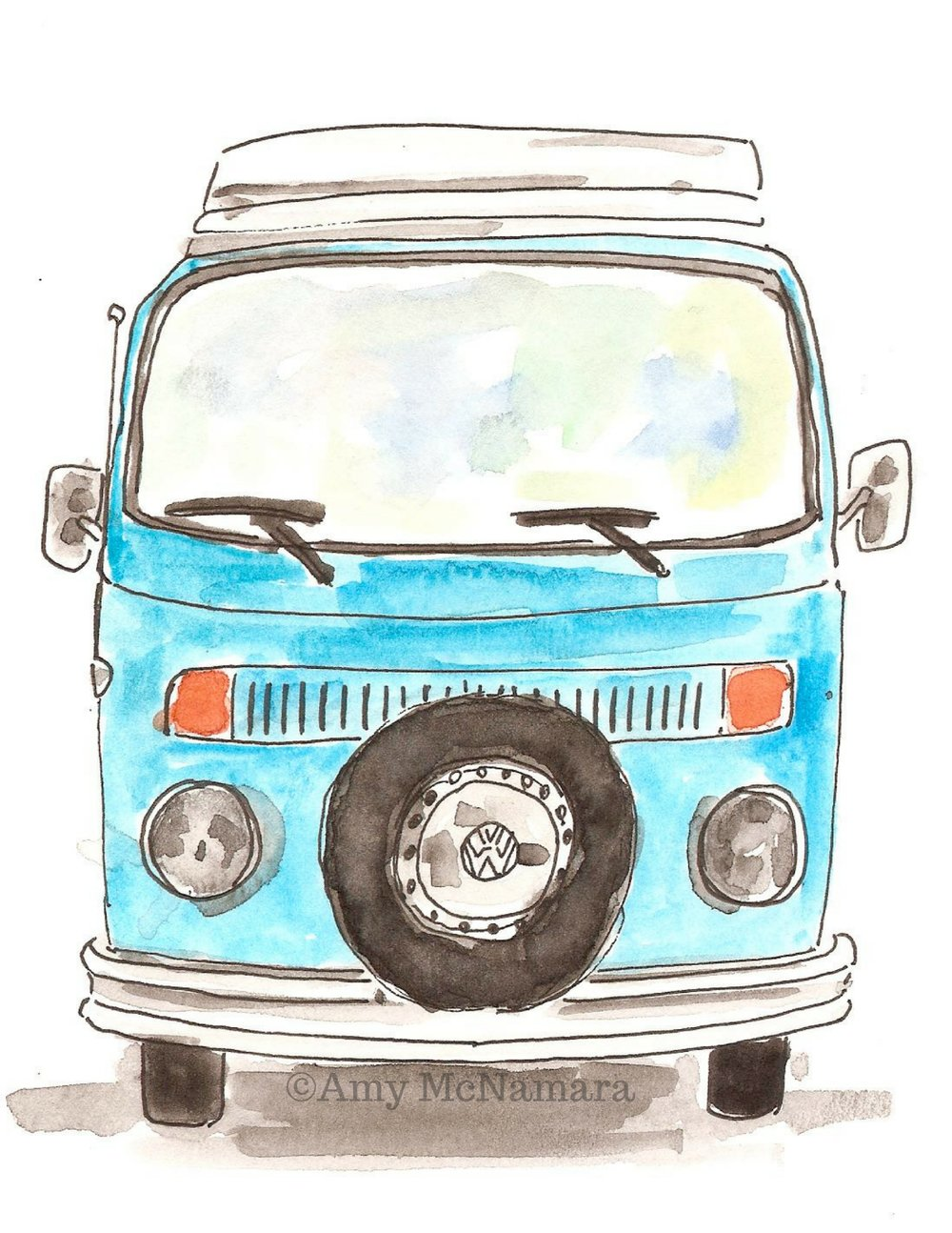 no. 239B VW Bus Color