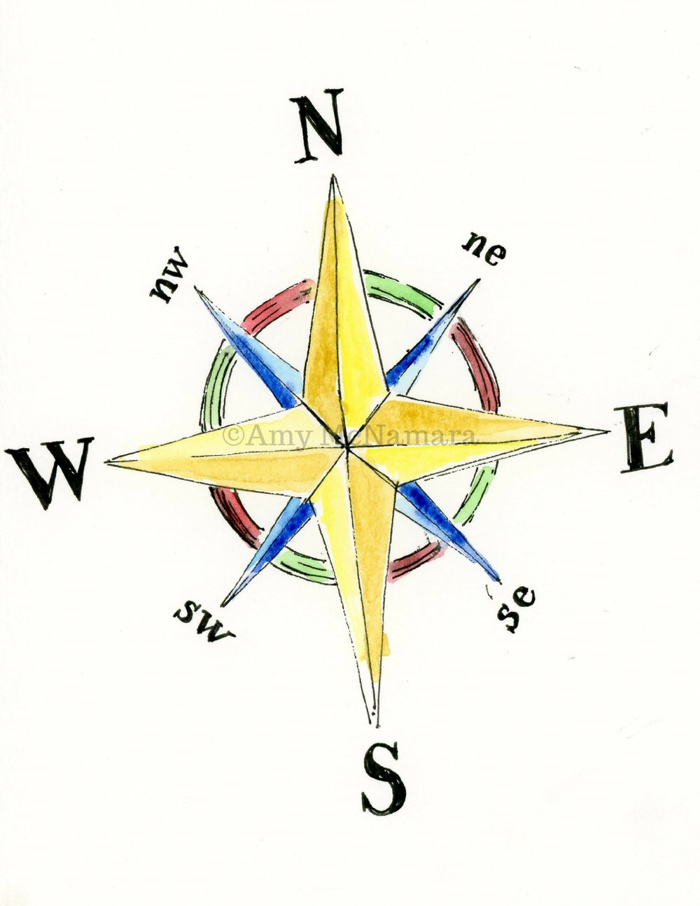 no. 269 Compass Rose