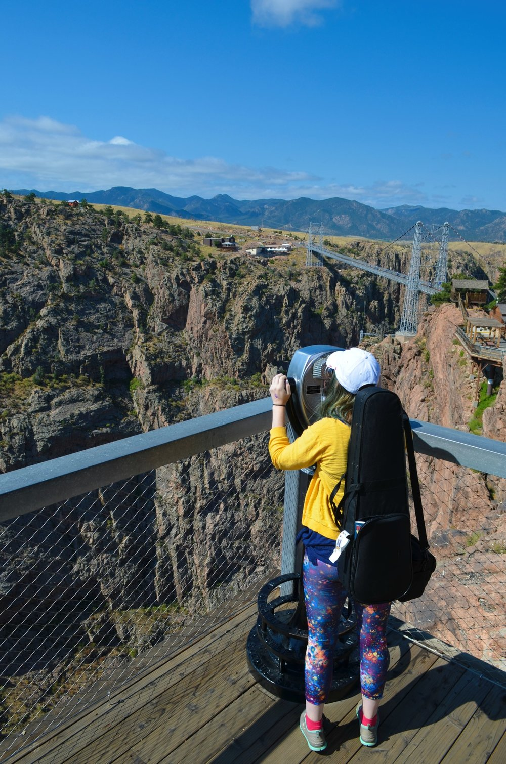 Overlooking the Royal Gorge in Colorado