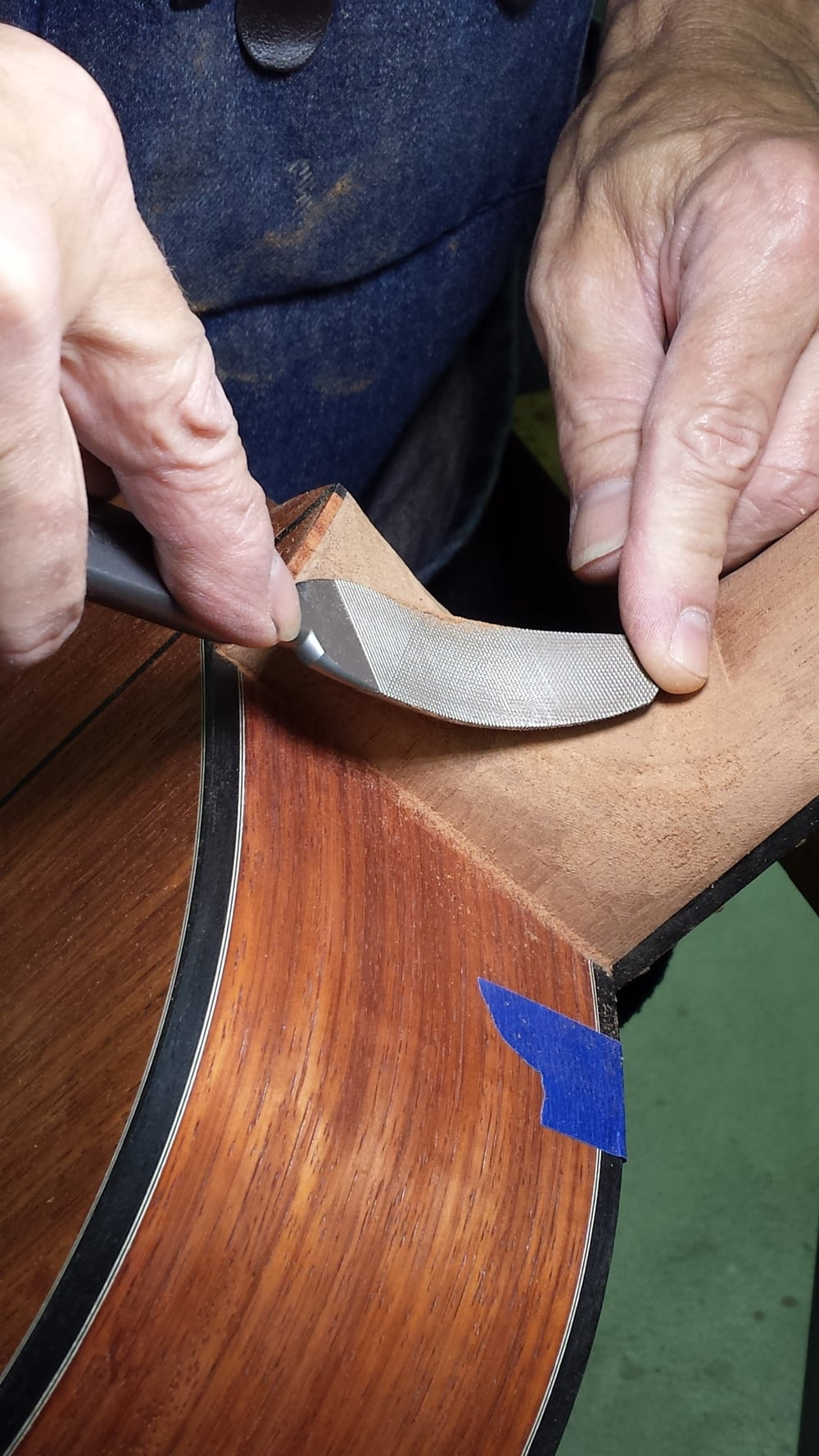 Shaping the heel - final stages