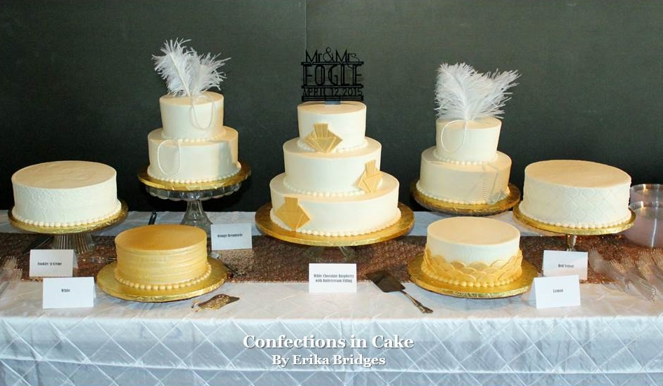 Gold Table of Cakes.JPG