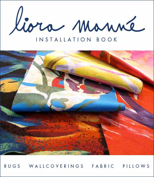 Click here for the   Liora Manné Installation Book  .   - Includes Hospitality, Commercial, Educational, and Residential Installations