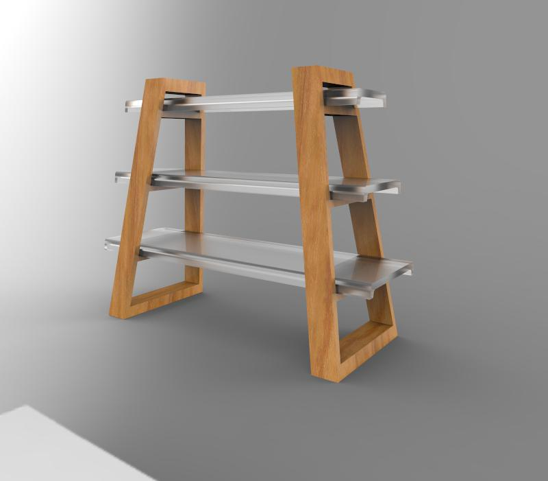 designed for my Sophomore Studio course to be a flat-pack book shelf that could be modified and enlarged to suit the user's needs.