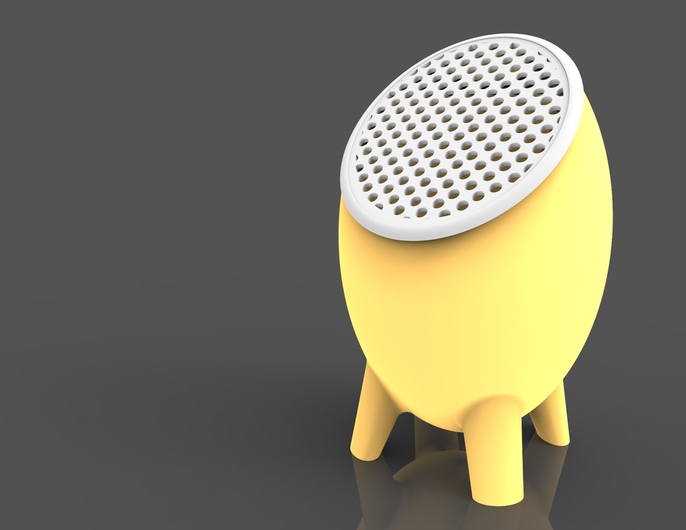 A 4-Gallon filtered humidifier designed and modeled for my Intro to CAD course.