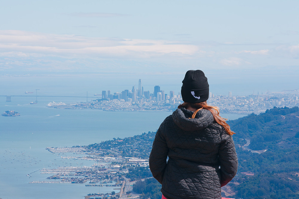 San Francisco view from Mt. Tamalpais, CA --  Photo by Steven B Herbert