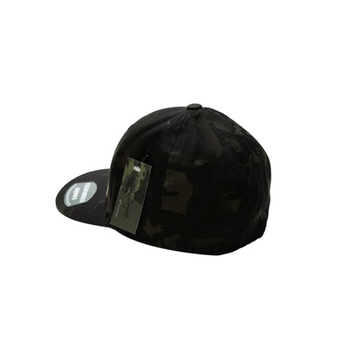 4c29aa9a9c3f9 Silhouette light brown on Multicam Black FlexFit Hat — We Are ...