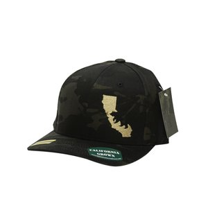 Silhouette light brown on Multicam Black FlexFit Hat — We Are ... 8b5e7da1843
