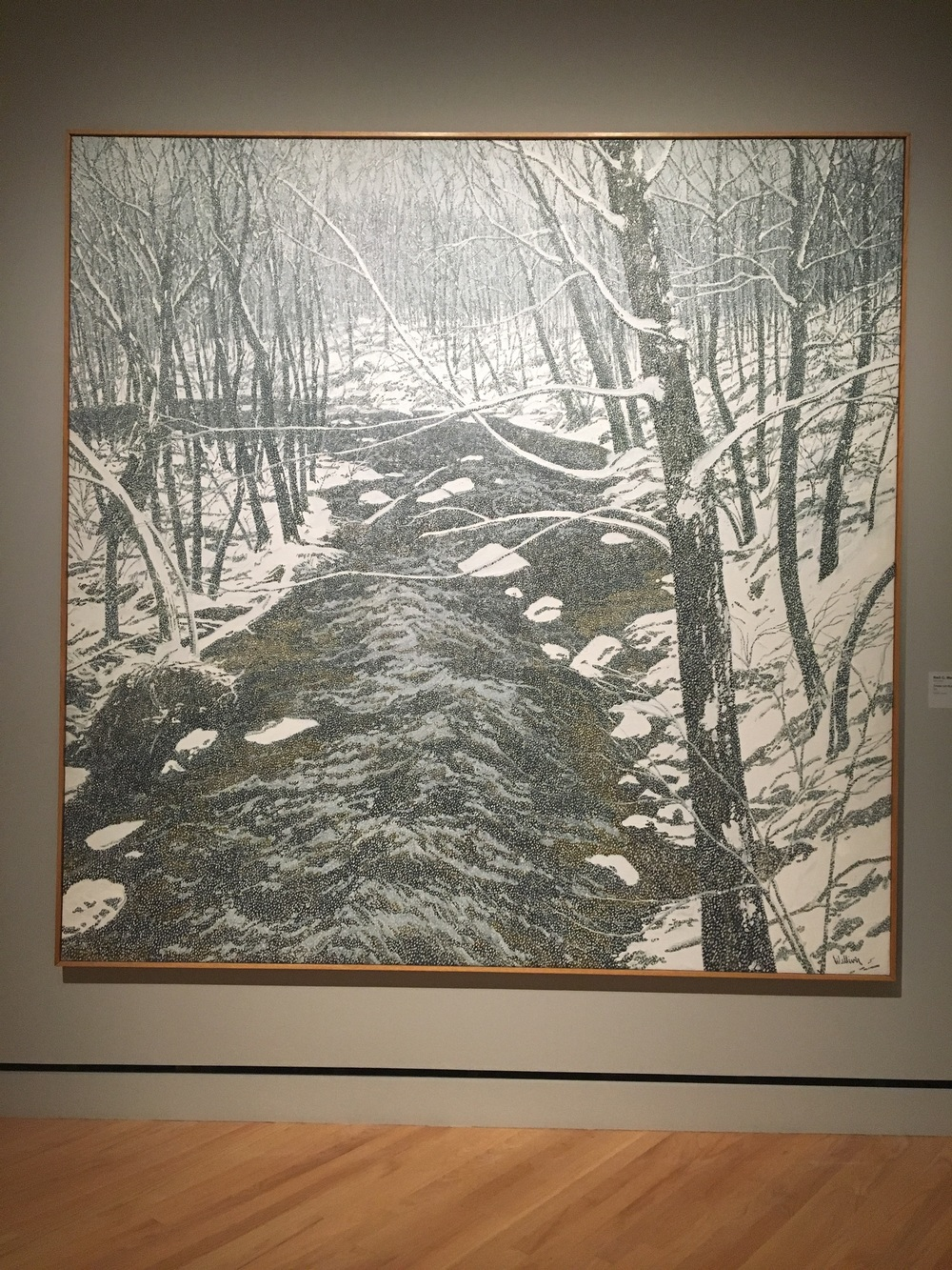 Neil G. Welliver. 1929-2005. Snow on Alden Brook, 1983.