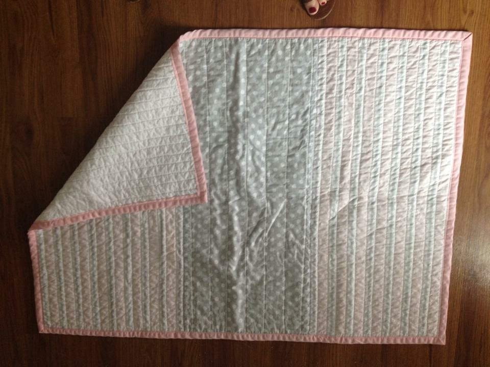 Pink and Grey Quilt
