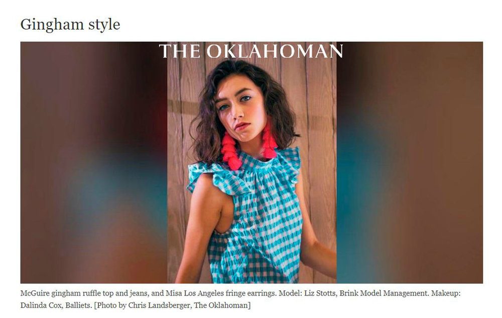 The Oklahoman: Gingham Style - August 2017