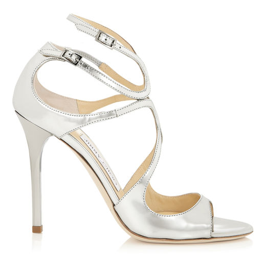 Lang Strappy Evening Sandal   Silver