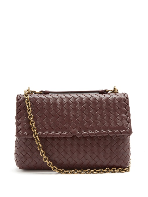 Olimpia Small Shoulder Bag   Burgundy
