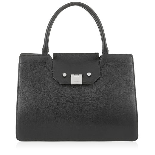 Rebel Soft Grain Leather Tote   Black