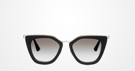 Prada - Cinema Gradient Sunglasses   Black