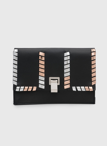 Proenza Schouler - Small Lunch Box   Black/Rose Gold/Silver