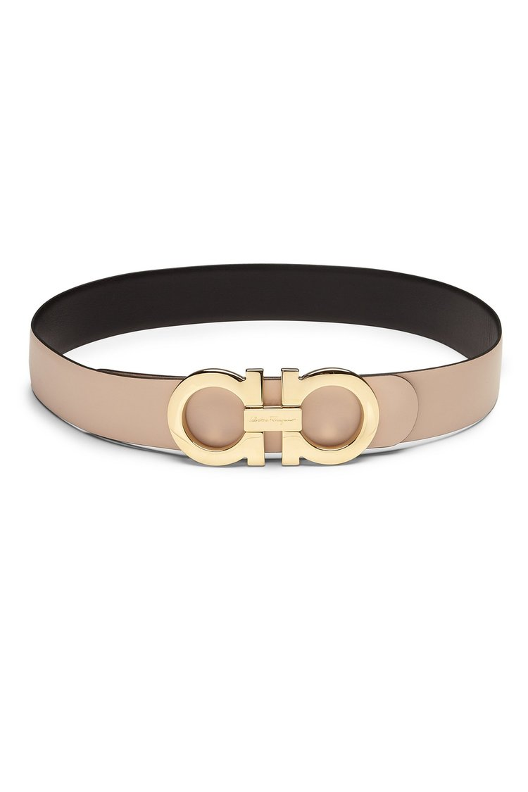Salvatore Ferragamo - Gancini Reversible Belt   Black/Tan