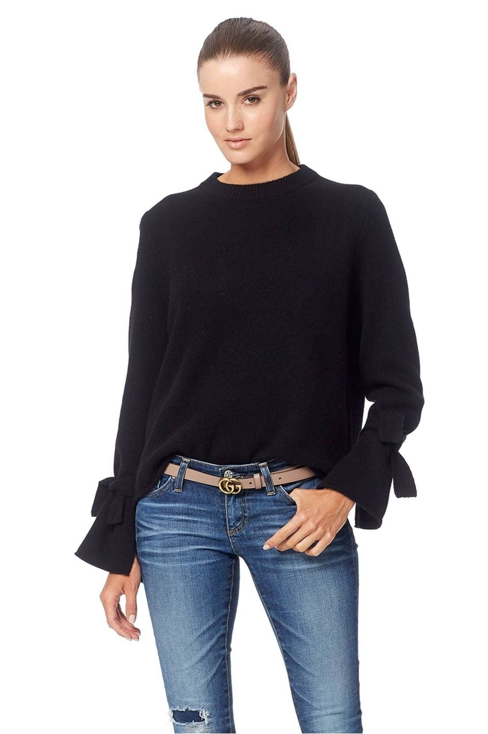 360 Cashmere Erika Sweater   Black or Burgundy