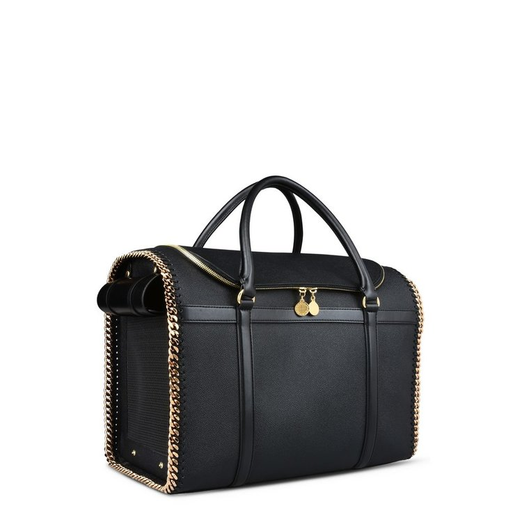 Stella McCartney Dog Carrier   Black/Gold
