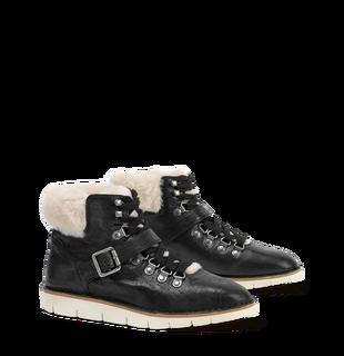 Trask Lorie Shearling Sneaker   Black
