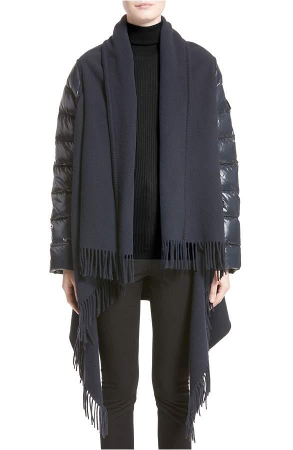 Moncler Mantella Puffer Sleeve Wrap   Black